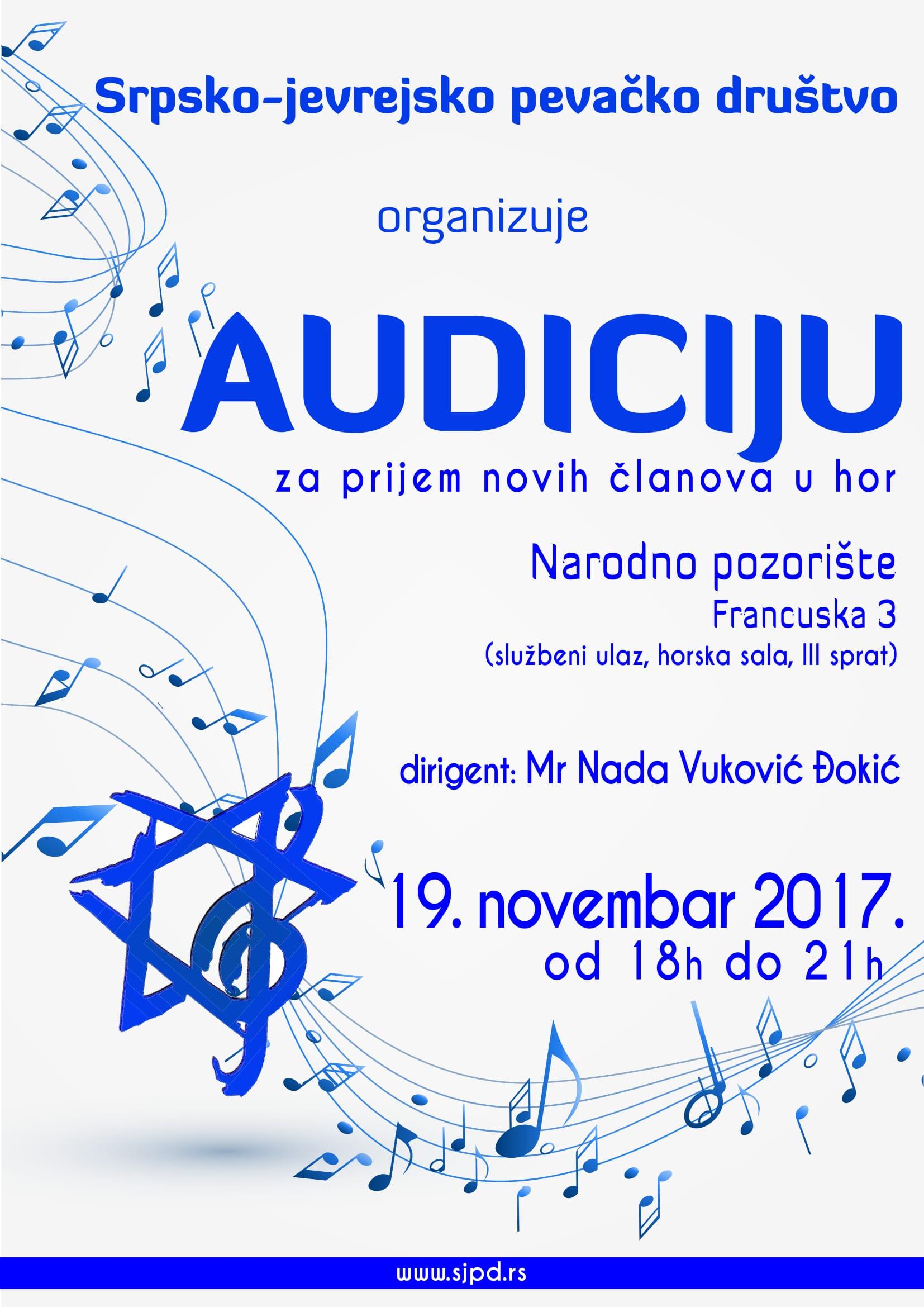 SPJD Audicija17 1 AUDICIJA   PRIJEM NOVIH ČLANOVA